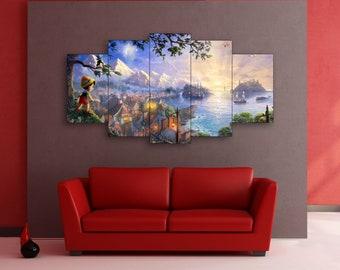 Pinocchio, Disney, Nursery decor, Nursery Wall Art, Nursery canvas, Kids room canvas, Pinocchio canvas, Pinocchio wall art, Disney canvas