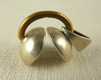 Vintage Sterling and Brass Cymbol Pendant