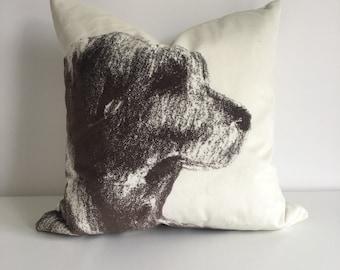 Double Sided Printed Velvet Cushion - Labrador