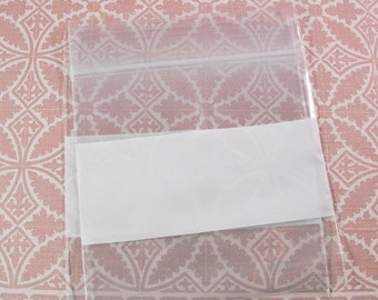TAX SEASON Stock up 500 Pack  Wholesale White Block Zip Lock Top 4 X 4 Inch Size Plastic Poly Bags