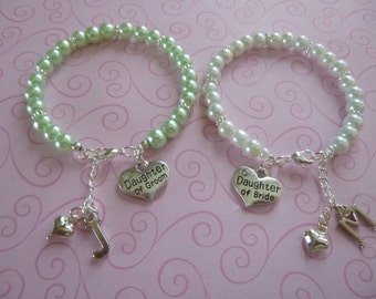 Personalized Daughter of the Bride or Personalized Daughter of the Groom Bracelet, Daughter of the Bride/Daughter of the Groom Bracelet