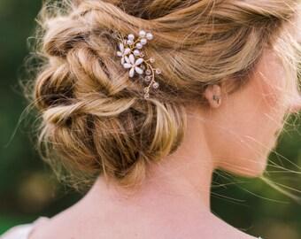 Bridal Hair Pins Flower Hair pins Crystal hair Pins wedding hair pins beaded hair pins flower headpiece bridal headpiece boho hair pins #137
