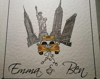 New York City wedding Anniversary card