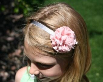Lollipop VIntage Pink Headband, Shabby Chic Headband, Girls Headband, Flower Headbands, Newborn Headbands, Baby Girl Headbands