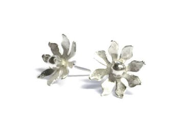 Fancy Flower Stud Earrings