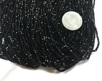 2.5MM Black Spinel Micro Cut  Stone , natural gemstone micro faceted beads.