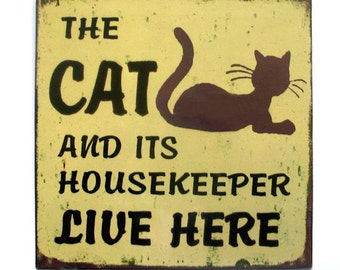 Vintage Black Cat Wall Sign Collectible Art