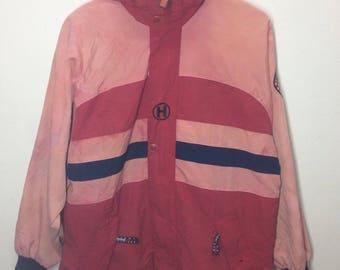 Rare!!!Vintage Jacket Tommy Hilfiger Big Logo Nice Design