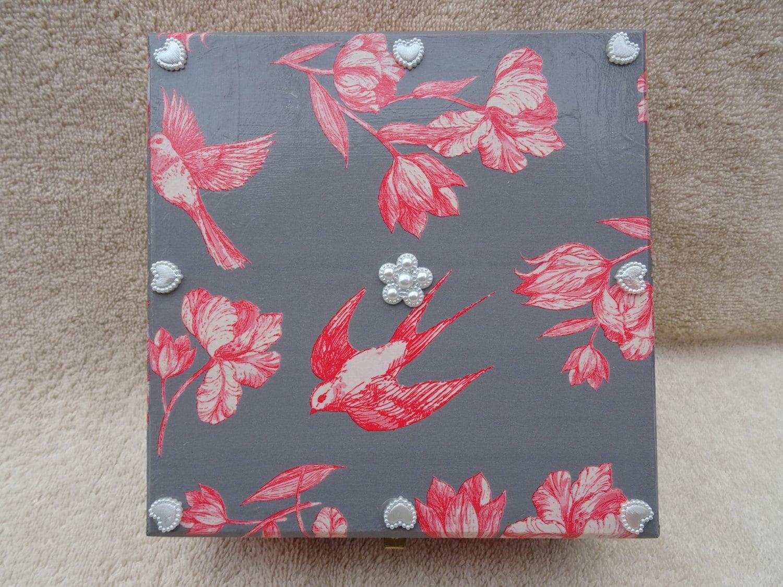 products wooden square box decorative decor keepsake mosaic boxes inlay