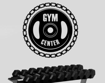 Gym Logo Wall Sticker Vinyl Window Decal Custom Sign Art Decorations Sports Room Bodybuilding Fitness Center Studio Club Decor fgm23