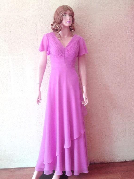 Lavendel Prom Kleid. Lange Brautjungfernkleid. Kleid mit