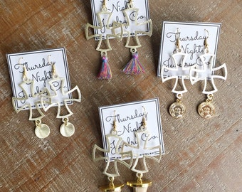 The Juliet Cross Earrings (4 Options to Choose From)