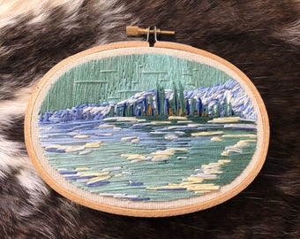 Ice Floes on the Seine Embroidery Art