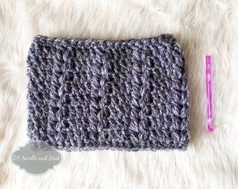 Crochet Scarf Pattern, Ribbed Puff Cowl, Crochet Infinity Scarf Pattern, Crochet Neck Warmer, Crochet Snood, Instant Download