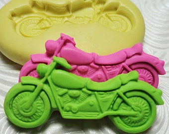 MOTORCYCLE Mold Flexible Silicone Rubber Push Mold for Resin Wax Fondant Clay Ice 6825