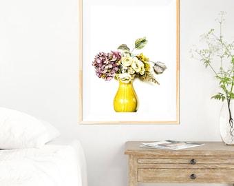 Floral Minimalist Print - Floral  Wall Art - Floral Photography - Minimalist - Floral Print - Floral - Kitchen Art - Fine Art Photography