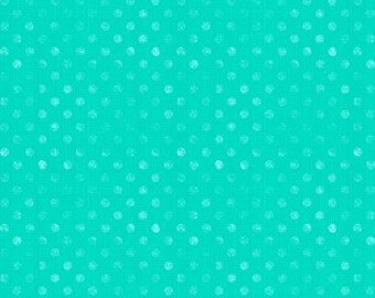 Dotsy Aqua Essentials Dotsy Collection by Jennifer Pugh Licensed for Wilmington Prints #1828 82455 741  100% Cotton
