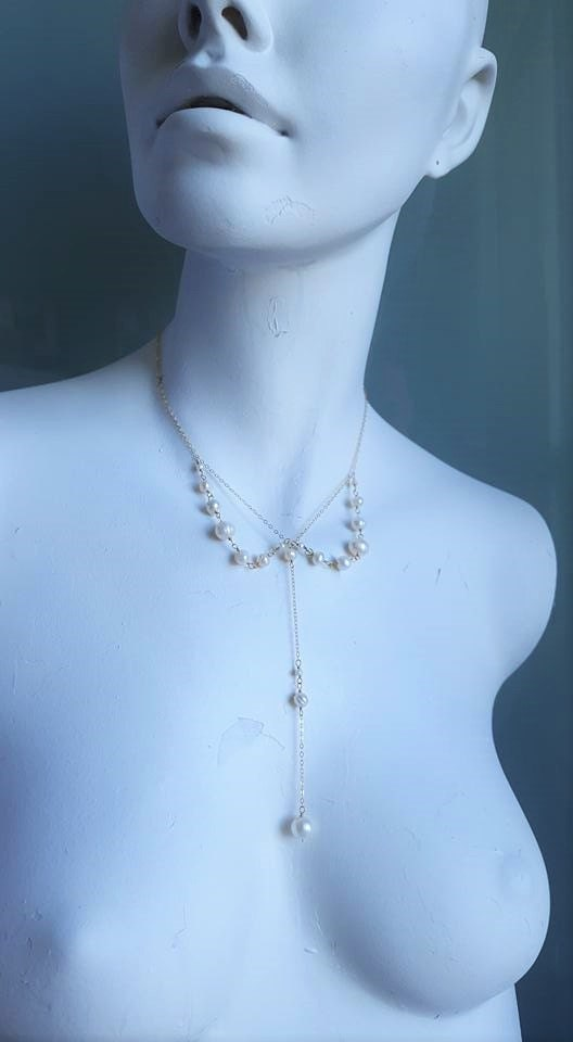 Vintage Inspired Pearl Collar Necklace, Bridal Jewelry, Vintage ...