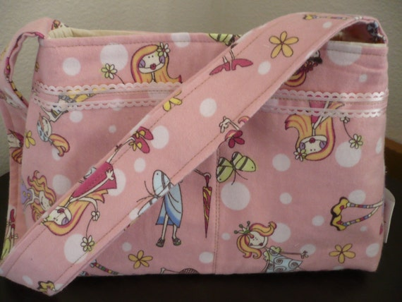 Pink Girly Mini Diaper Bag
