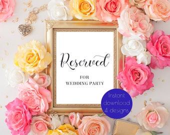 Reserved table sign wedding, reserved wedding sign, reserved sign, reserved seat sign, gold wedding sign, rose gold wedding sign, #JADE