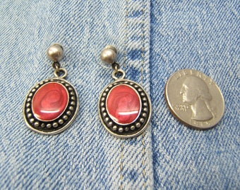 On Sale! Free Shipping*!, Silver Earring, Earrings, Cowgirl Earrings, Western Jewelry, Cowgirl Accessories, Silver, Scarlet Enamel, #80020-2