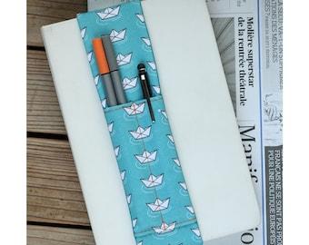 Notebook pen holder - Paper boats