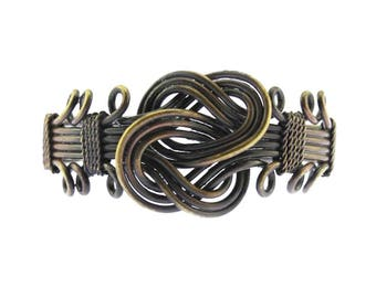 Vintage Brass Cuff Bracelet, Twisted Brass Bracelet, Twisted Brass Wire Cuff