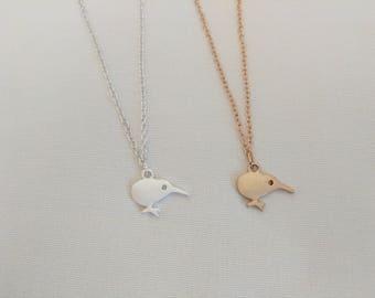 Kiwi Necklace Bird pendant | Small Kiwi Pendant | Silver or Gold | Bird Necklace | Bird Charm | dainty jewelry | FREE GIFT WRAP