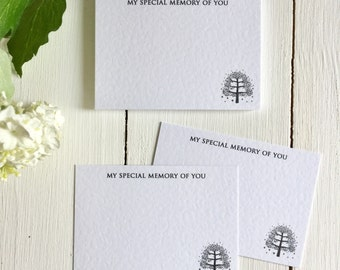 25 Luxury Funeral Remembrance Cards - Celebration of Life, Condolence Book