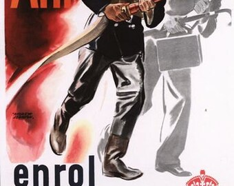 Vintage World War Two ARP Air Raid Warden Poster A3/A2/A1 Print