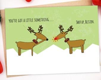 Funny Christmas Card, Illustrated Christmas Card, Funny Holiday Card, Merry Christmas Greeting Card, Sarcastic Christmas Card, Xmas Card