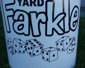Yard Farkle Vinyl Decal, Yardkle