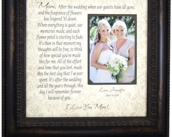 Mother of the Bride Frame Wedding Gift, Parents Thank You for Mom Dad, Wedding Frame, wedding cake topper, love topper, 16x16