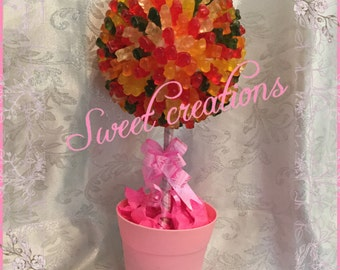 Gummy bears  candy sweet tree SWEET CREATIONS sweet hamper gift party tablecentre christmas