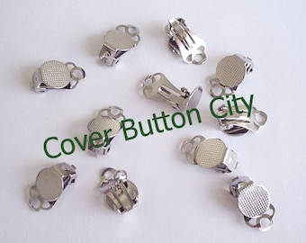 12 (6 pairs) Clip On Earrings 9 mm Pad