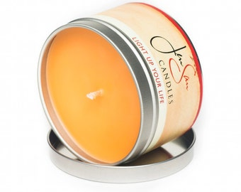 Cinnamon Orange Travel Tin Scented Soy Candle -  8 oz