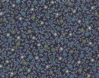 Silver and blue patchwork fabric, Talia Hoffman fabric