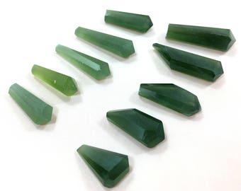 10 Pieces Amazing Green Serpentine Crystals@MKT