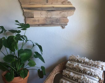 Iowa State Sign | Reclaimed Wood | Pallet Sign | Home Decor | Wall Art | Rustic Decor | Barn wood |