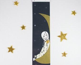 "Bookmark ""Moon and Stars"""