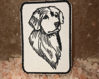 Golden retriever patch, retriever patch, golden retreiver dog, dog patch, gift under 10, canine patch, dog show patch, dog show, dog badge
