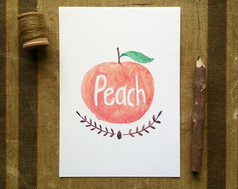 Peach -Art Print 5x7, 8x10, 11x14
