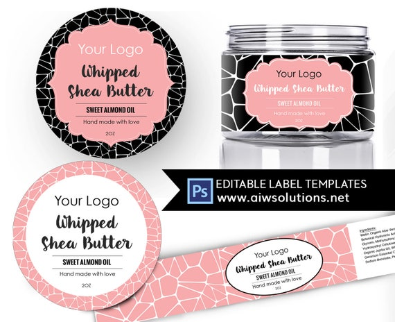 shea butter label template body butter label carrier oils