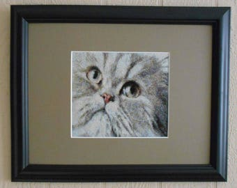 HOUSE CAT ONE pattern for counted cross stitch