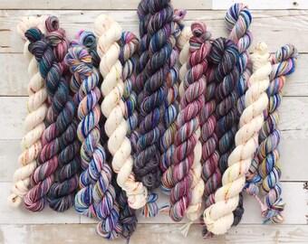 mystery mini skeins | akame sock | hand dyed yarn | 75/25 SW Merino/Nylon Fingering