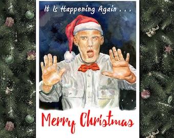 TWIN PEAKS, Twin Peaks Christmas Card, Funny Christmas Card, Twin Peaks Holiday Card, Funny Holiday Card, Twin Peaks Greeting Card, Giant