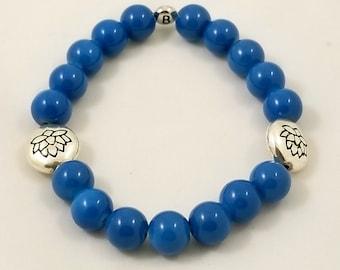 Blue Lotus Stretch Bracelet