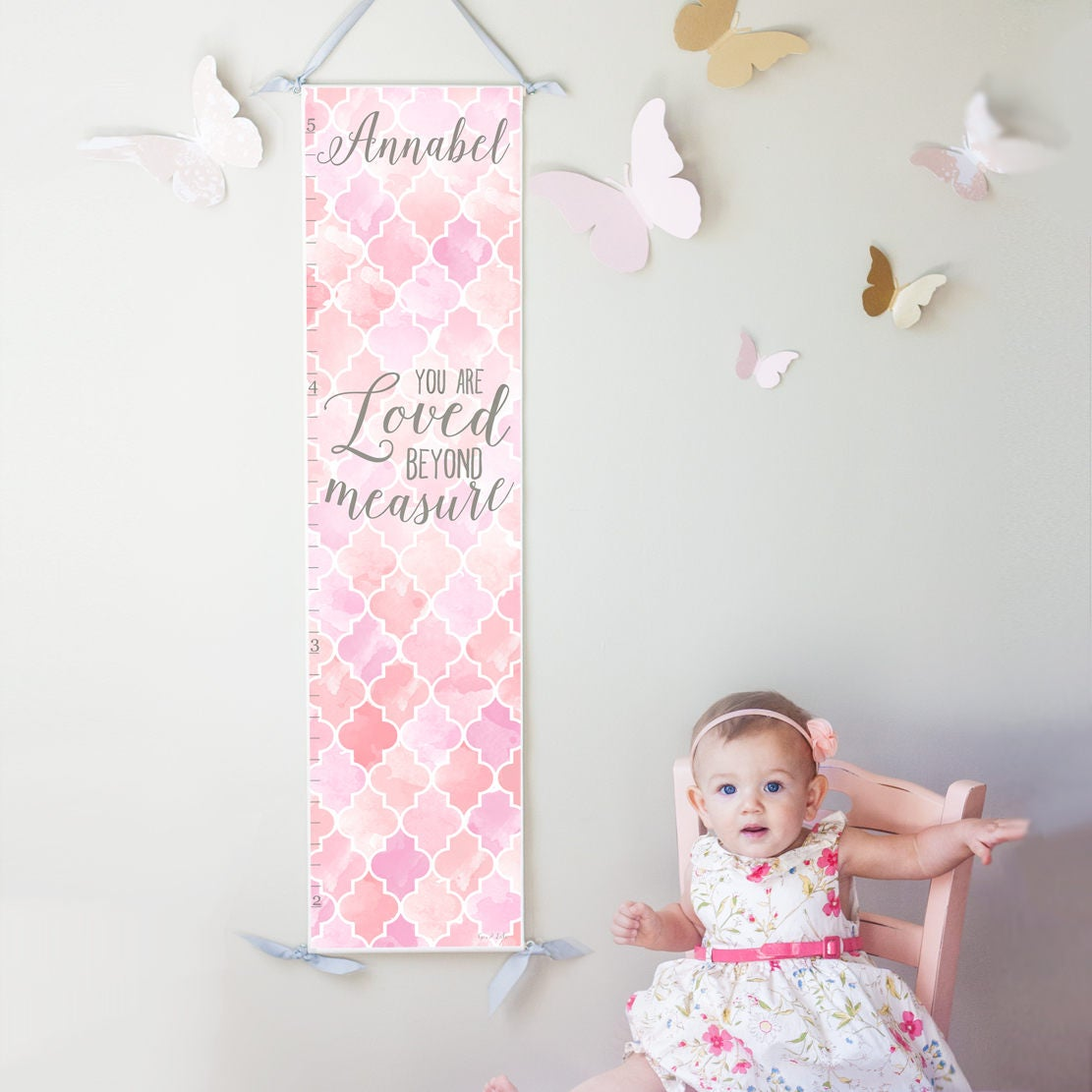 Custom personalized loved beyond measure canvas growth chart zoom nvjuhfo Gallery