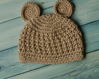 Little Bear Crochet Beanie Size Preemie-Child