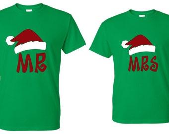 Mr. OR Mrs. Santa Hat Shirt